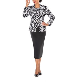 Giovanna Signature Women's Animal Print 3-Piece Skirt Suit