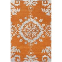 Safavieh Hand-knotted Stone Wash Gold Wool Rug - 3' x 5'