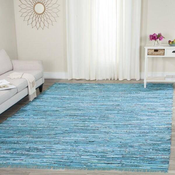 Safavieh Hand Woven Rag Turquoise Multi Cotton Rug 5 X