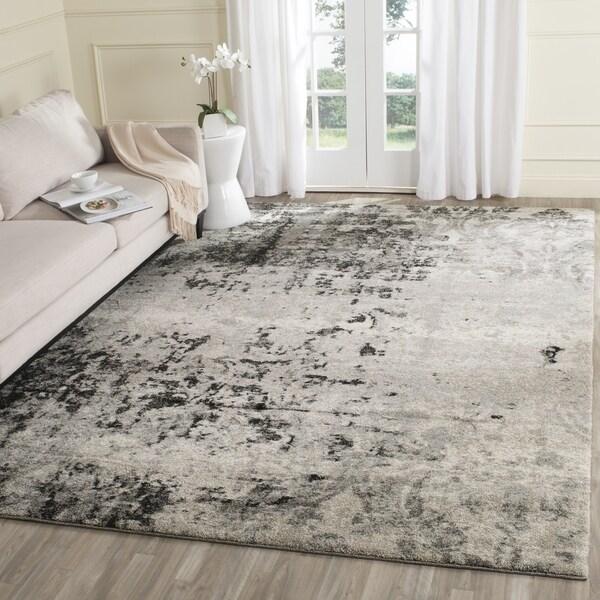 Safavieh Retro Modern Abstract Light Grey Grey