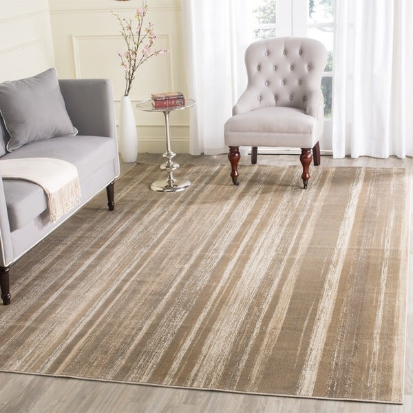 Safavieh Vintage Mouse Brown Abstract Distressed Silky Viscose Rug (6'7 x 9'2) - 6'7 x 9'2