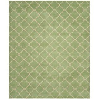 Safavieh Handmade Moroccan Green Wool Rug (8' x 10')