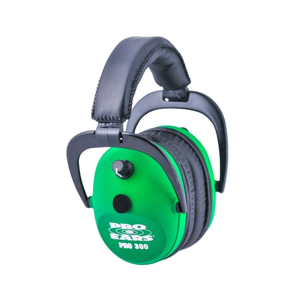 Pro Ears Pro 300 Electronic Hearing Protection and Amplification Neon Green NRR 26 Ear Muffs