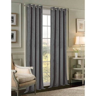 Velvet 84-inch Grommet Curtain Panel Pair