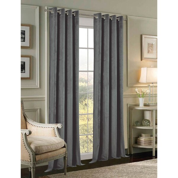 Shop Velvet 84 Inch Grommet Curtain Panel Pair Free