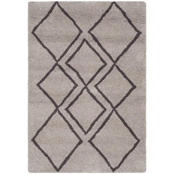Safavieh Hand-Tufted Soho Light Grey/ Dark Grey Wool/ Viscose Rug - 2' x 3'