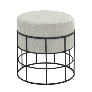 Sassy Metal Outdoor Fabric Stool