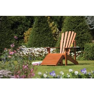English Garden Adirondack Chair with Ottoman