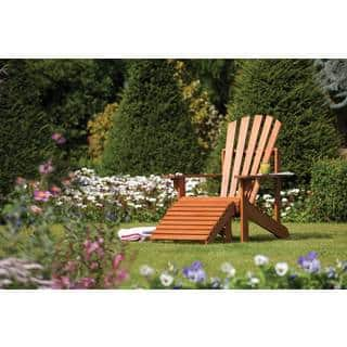 English Garden Adirondack Chair With Ottoman