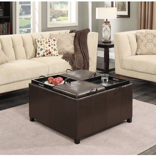 Convenience Concepts Designs4Comfort Times Square 4-tray Top Ottoman