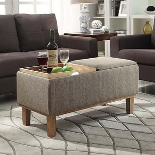foter honey coffee table with explore storage ottomans ottoman dark oak