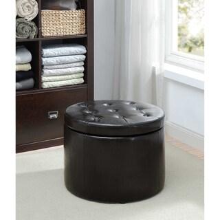 Porch & Den Bywater Congress Round Shoe Storage Ottoman (Option: Black)