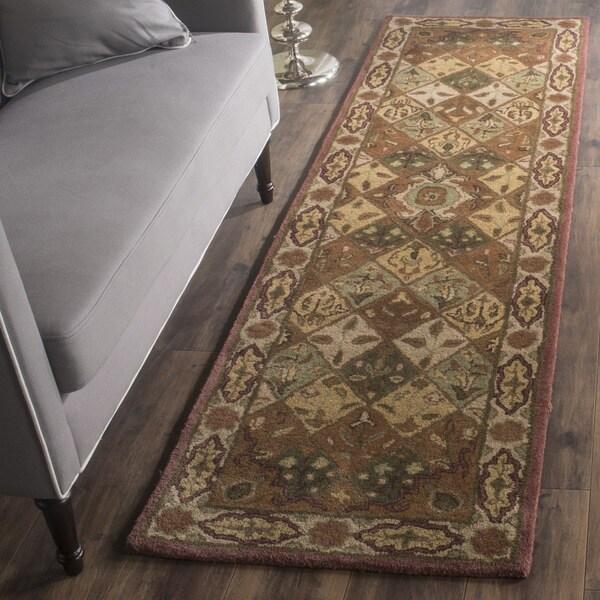 Safavieh Handmade Heritage Timeless Traditional Rust/ Ivory Wool Rug - 2'3 x 8'