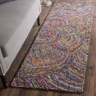 Safavieh Handmade Nantucket Abstract Floral Multicolored Cotton Runner Rug (2' 3 x 10')