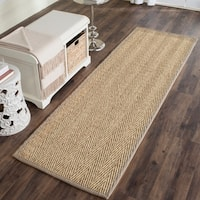 Safavieh Casual Natural Fiber Grey Seagrass Area Rug - 2'6 x 8'
