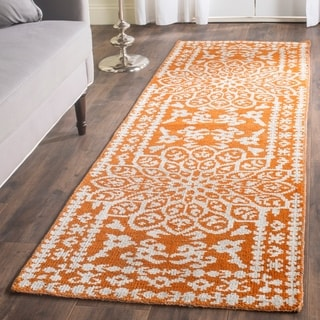 Safavieh Hand-knotted Stone Wash Copper Wool Rug (2'6 x 8')