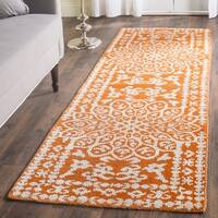 Safavieh Hand-knotted Stone Wash Copper Wool Rug - 2'6 x 8'