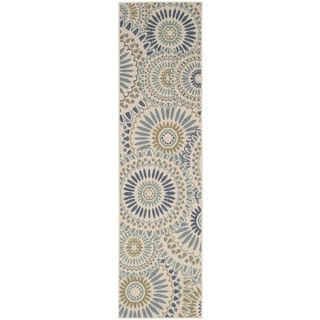 Safavieh Indoor/ Outdoor Veranda Cream/ Green Rug (2'3 x 8')
