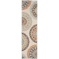 Safavieh Indoor/ Outdoor Veranda Cream/ Terracotta Rug - 2'3 x 8'