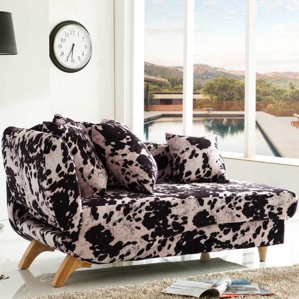 Corvus Bellini Cowhide Design Sofa Bed