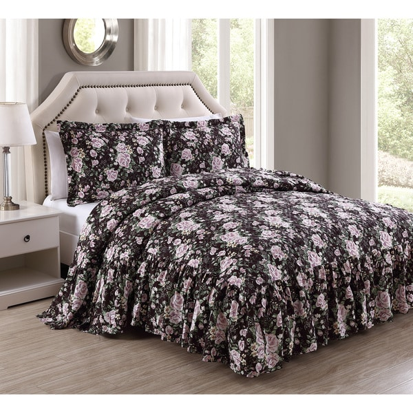 Rosanne Antique Rose 3-piece Bedspread Set