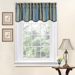 Link to Traditions by Waverly Stripe Ensemble Scalloped Window Valance - 52x16 Similar Items in Window Treatments