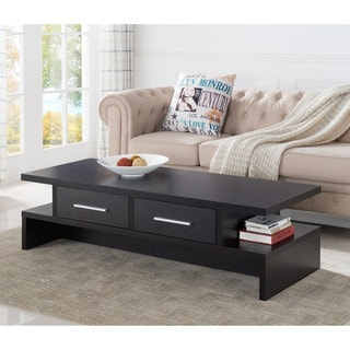Furniture of America Tepekiie 2-drawer Cappuccino Open Coffee Table