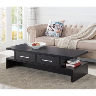 Furniture of America Tepekiie 2-drawer Cappuccino Open Coffee Table