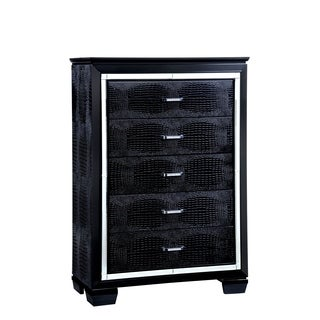 Furniture of America Tallone Contemporary Crocodile Textured 5-drawer Chest