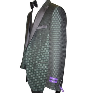 Men's Natalie-3 Hunter Statement 3-piece Tuxedo Suit