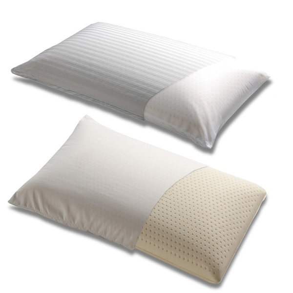 Fashion Bed Group Firm Latex Foam Pillow with Portable Case - White