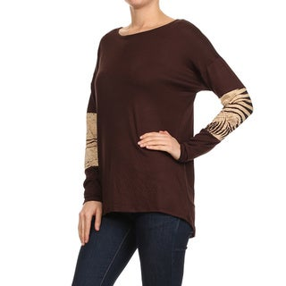 MOA Collection Women's Border Print Insets Top