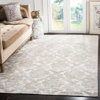 Safavieh Handmade Mirage Modern Silver Wool/ Viscose Rug (9' x 12')