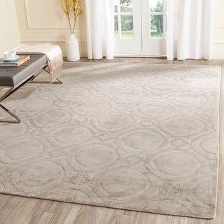 Safavieh Handmade Mirage Modern Geometric Silver Viscose Rug (9' x 12')