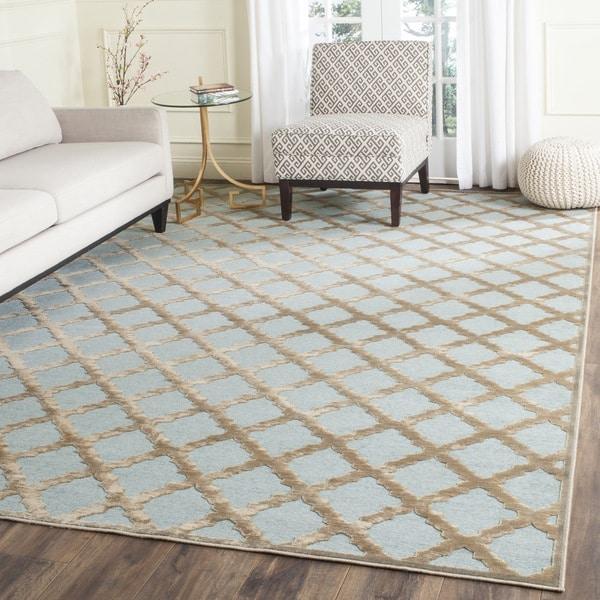 safavieh paradise mouse/ aqua viscose rug (8' x 11'2) - free