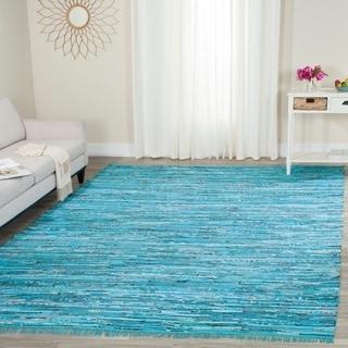 Safavieh Hand-Woven Rag Turquoise/ Multi Cotton Rug (8' x 10')