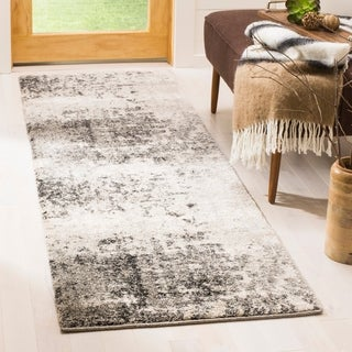 Safavieh Retro Modern Abstract Light Grey / Grey Distressed Rug (8' x 10')