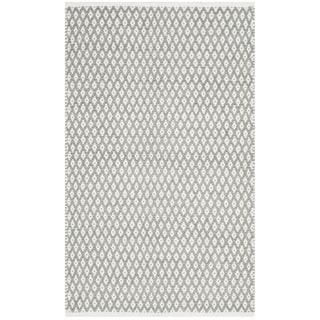 Safavieh Handmade Boston Flatweave Grey Cotton Rug (2'6 x 4')