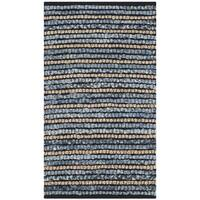 Safavieh Cape Cod Handmade Blue / Natural / Jute Natural Fiber Rug - 2' x 3'