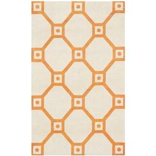 Safavieh Handmade Cedar Brook Ivory/ Orange Jute Rug (2'3 x 3'9)