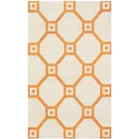 Safavieh Handmade Cedar Brook Ivory/ Orange Jute Rug - 2'3 x 3'9