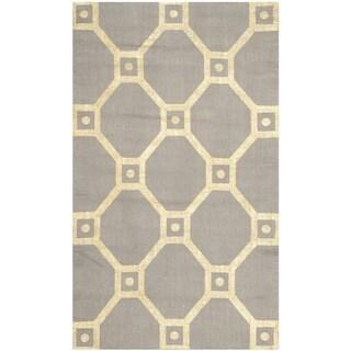 Safavieh Handmade Cedar Brook Grey/ Gold Jute Rug (2'3 x 3'9)