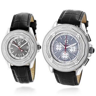 Centorvm His and Hers Falcon 1.05ct TDW Diamond Watch Set