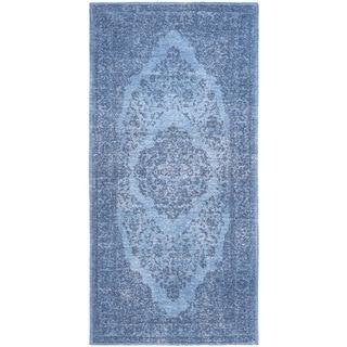 Safavieh Classic Vintage Overdyed Blue Cotton Distressed Rug (2'4 x 4'8)