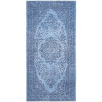 Safavieh Classic Vintage Overdyed Blue Cotton Distressed Rug - 2'4 x 4'8