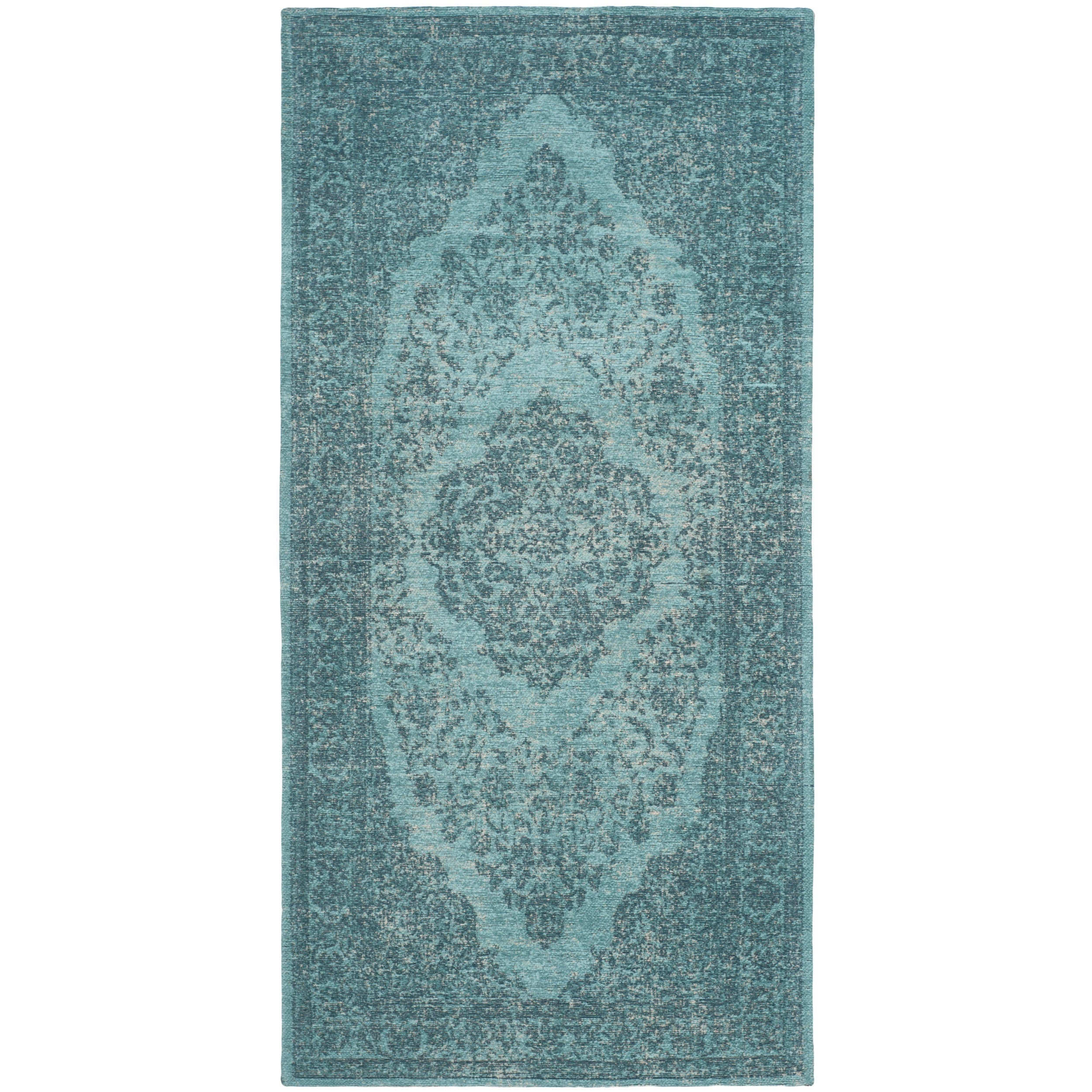 Safavieh Classic Vintage Overdyed Aqua Cotton Distressed ...