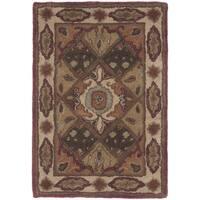 Safavieh Handmade Heritage Timeless Traditional Rust/ Ivory Wool Rug - 2' x 3'