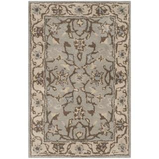 Safavieh Handmade Heritage Timeless Traditional Beige/ Grey Wool Rug (2' x 3')