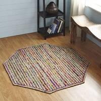 Astoria Octogonal Indoor Accent Rug by Better Trends - 5' x 5'