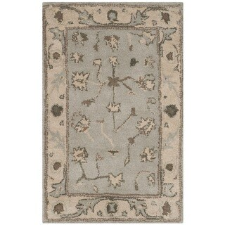 Safavieh Handmade Heritage Timeless Traditional Beige/ Grey Wool Rug (2' x 3')